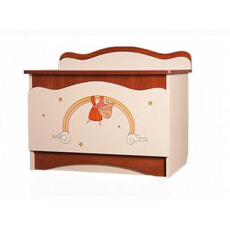 Ящик для игрушек Вальтер Феи в облаках Крем + яблоня шоколад