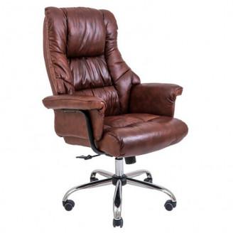 Кресло Richman Конгрес кожа коричневая  +  хром