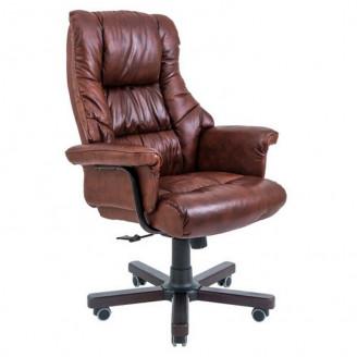 Кресло Richman Конгрес кожа коричневая  +  Вуд