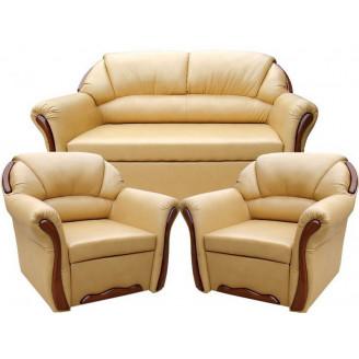 Комплект Вика Бостон 211 (с нераскладными креслами)