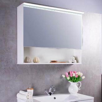Зеркальный шкафчик Fancy Marble MC-Okinava 100 белый