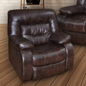 Кресло реклайнер МКС Лотто (кожа +  к/з)
