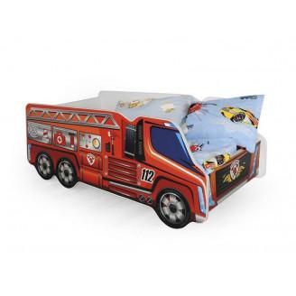 Кровать-машинка с матрасом Halmar Fire Truck