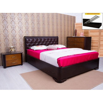 Кровать полуторная Олимп Милена мягкая спинка ромбы с механизмом