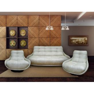 Комплект МКС Бакарди (диван и 2 кресла,кожа)