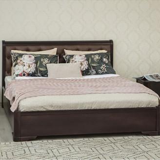 Кровать полуторная Олимп Милена мягкая спинка ромбы