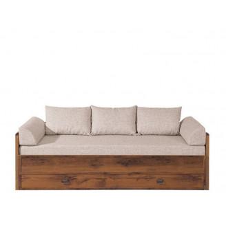 Диван-кровать BRW (Польша) Indiana JLOZ 80/160 с матрасом подлокотниками и подушками