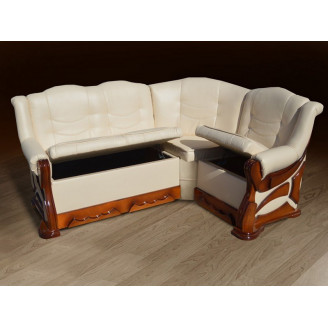Мягкий уголок Микс мебель Визит бук (175*130) Орех