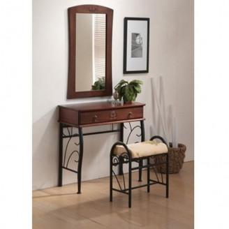 Туалетный столик с пуфом и зеркалом signal 1102