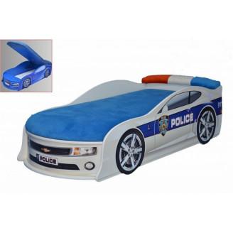 Кровать-машинка с матрасом AvtoUA Chevrolet Camaro Полиция с механизмом