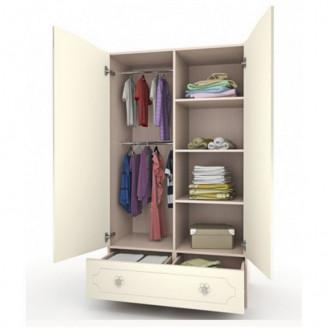 Шкаф платяной Вальтер Мишка с букетом с ящиком-100
