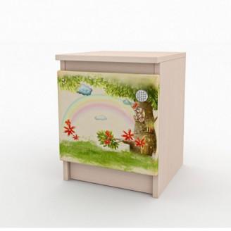 Тумбочка прикроватная Вальтер Мишка с букетом
