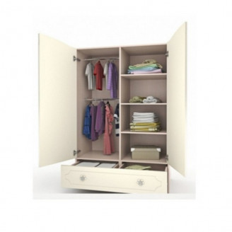 Шкаф платяной Вальтер Природа с ящиком-100