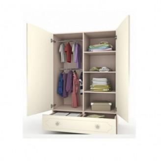 Шкаф платяной Вальтер Бабочки с ящиком-100