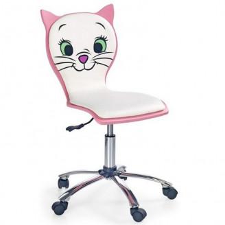 Детское кресло Halmar Kitty 2 Белый/розовый