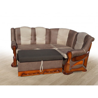Мягкий уголок раскладной Микс мебель Визит бук (175х30) Орех  +  винс 07 + 05