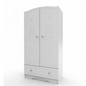 Шкаф платяной Вальтер Мишка Белый