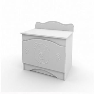 Ящик для игрушек Вальтер Мишка Белый
