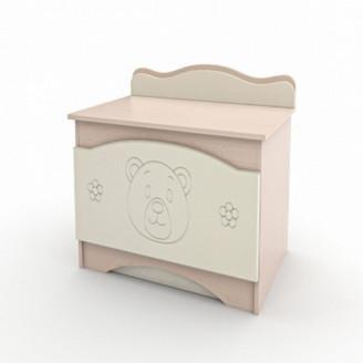Ящик для игрушек Вальтер Мишка Ваниль + венге светлый