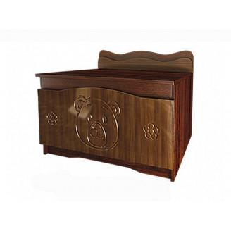 Ящик для игрушек Вальтер Мишка Орех + венге темный